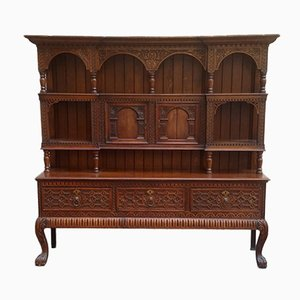 Antique Spanish Carved Wood Sideboard