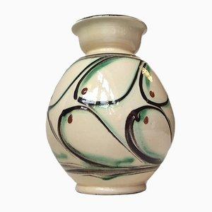Dänische Art Deco Keramik Vase von Herman August Kähler, 1930er