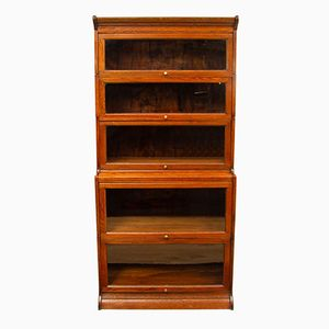 Edwardian Oak Stacking Barristers Bookcase, 1920s
