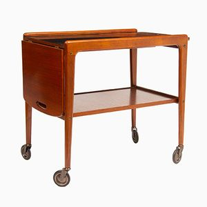 Mid-Century Teak Tea Trolley by Yngve Ekstrom, 1960s