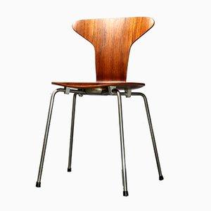 Chaise Moustique 3105 en Teck par Arne Jacobsen pour Fritz Hansen
