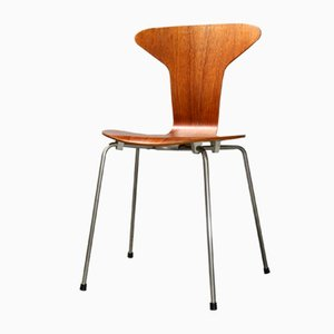Sedie 3105 Mosquito in teak di Arne Jacobsen per Fritz Hansen