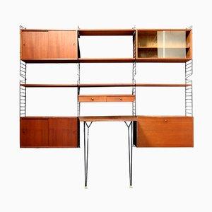 Teak Blockboard Ladder Shelf by Kajsa & Nils Strinning for String