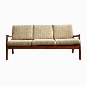 Mid-Century Modern Teak Senator Sofa by Ole Wanscher for Cado