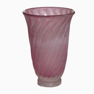 Rosa Scavo Muranoglas Vase von Gino Cenedese, 1950er