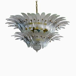 Palmette Murano Glass Chandelier from Barovier & Toso, 1970s