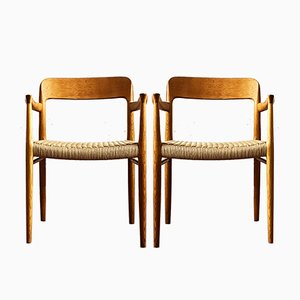 Mid-Century Model 56 Armchairs by Niels Otto Møller for J.L. Møllers, Set of 2