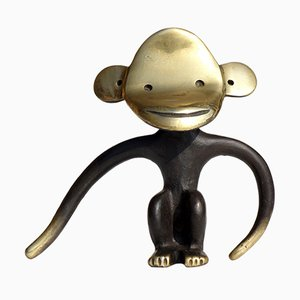 Brass & Bronze Monkey Corkscrew by Walter Bosse for Hertha Beller, 1950s