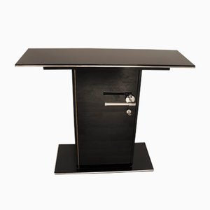 Black Art Deco Console Table, 1930s
