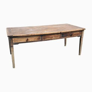 Large Antique Italian Rustic Table