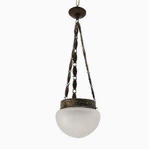 Lámpara colgante vintage platinada