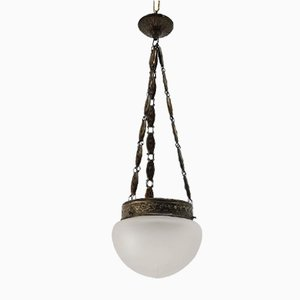 Vintage Rhodium Plated Pendant Lamp