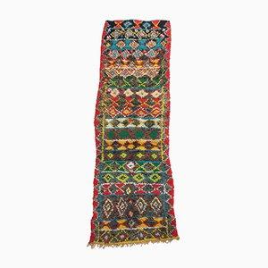 Alfombra de pasillo Boujad marroquí vintage