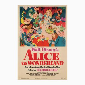 Alice in Wonderland US 1 Sheet Film Poster, 1951