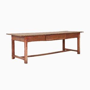 Mesa de cocina antigua pintada