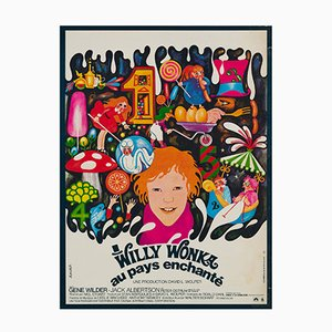 Affiche de Film Willy Wonka & the Chocolate Factory par Bacha, 1971