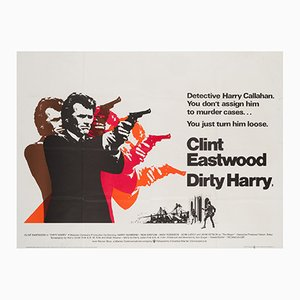 Póster Dirty Harry UK Quad, 1971