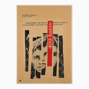 400 Blows Film Poster by Waldemar Swierzy, 1960