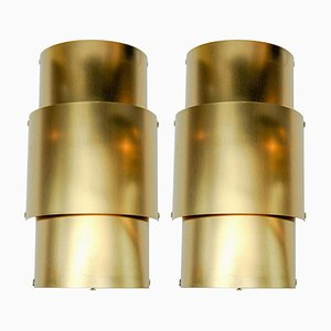 Natural Brass Wall Sconces from Glustin Luminaires, 2017, Set of 2