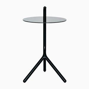 Table d'Appoint Yot en Frêne Noir et Corian de Florian Saul Design Developement