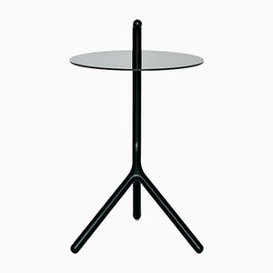 Yot Side Table in Black Ash & Corian from Florian Saul Design Developement