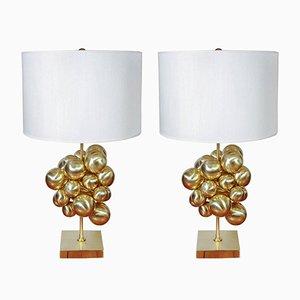 Lampes de Bureau en Laiton avec Plusieures Sphères de Glustin Luminaires, 2018, Set de 2
