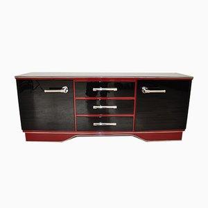 Mueble de salón vintage en rojo y negro