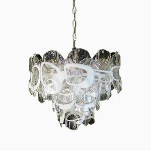 Lámpara de araña de cristal de Murano, 1981