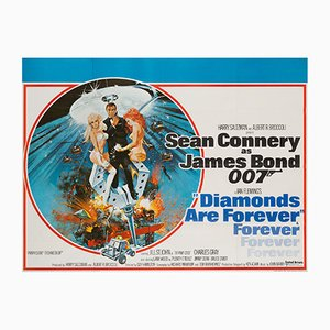 Póster de la película Diamonds Are Forever de Robert McGinnis, 1971