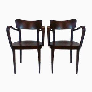 Holzstühle von Thonet, 1940er, 2er Set