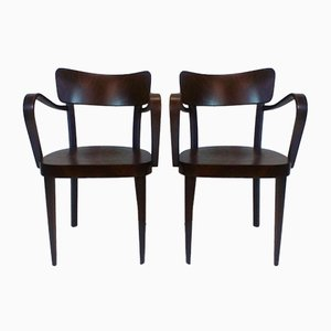 Wooden Chairs from Thonet, 1940s, Set of 2