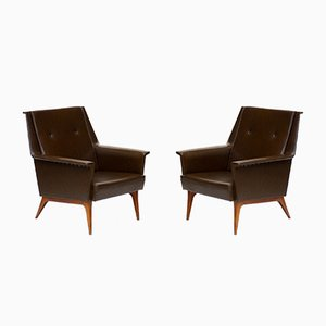 Mid-Century Italian Lounge Chairs from Anonima Castelli, Set of 2