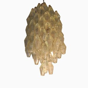Iridescent Chandelier by Carlo Scarpa for Venini, 1950s