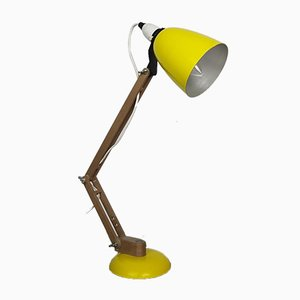 Lámpara de escritorio Maclamp en amarillo de Terence Conran para Habitat, años 50