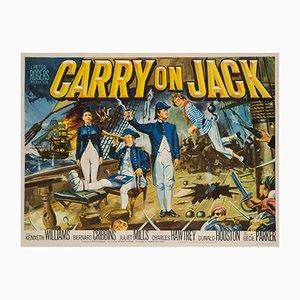 Affiche Carry on Jack UK Quad par Tom Cantrell, 1963