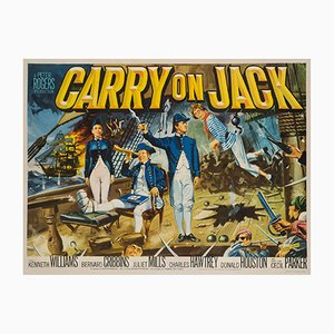 Carry on Jack UK Quad Poster by Tom Cantrell, 1963