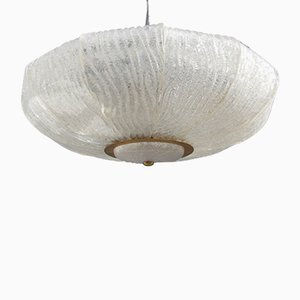 Lampada da soffitto in vetro di Murano di Venini, anni '60