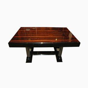 Mesa de comedor Art Déco con tablero de palisandro, años 20