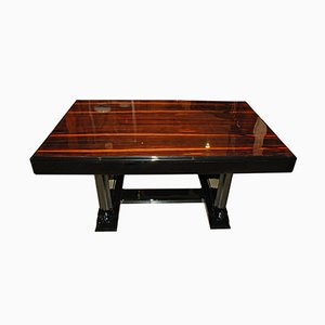 Tavolo da pranzo Art Deco con ripiano in palissandro, anni '20