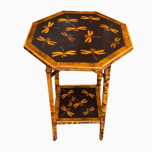Bamboo Table with Dragonfly Decoration, 1880s