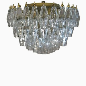Murano Poliedri Deckenlampe von Carlo Scarpa, 1983