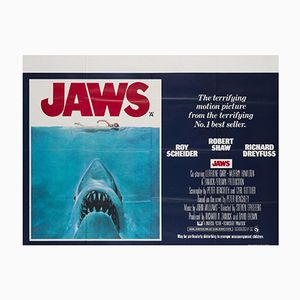 Jaws UK Quad Poster by Roger Kastel, 1975