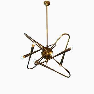 Sputnik Kronleuchter aus Messing von Stilnovo, 1980er