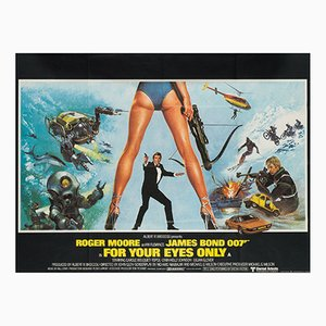 For Your Eyes Only UK Quad Film Poster by Brian Bysouth, 1981