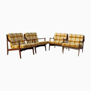 Lounge Chairs, 1960s, Set of 4