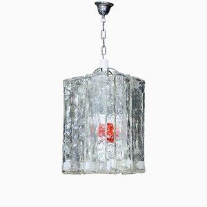 Lampe à Suspension Carrée en Verre Murano de Barovier & Toso, 1960s