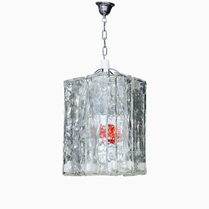 Square Murano Glass Pendant from Barovier & Toso, 1960s