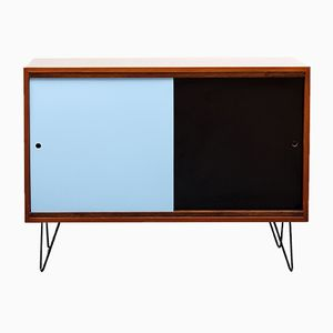Teak Sideboard with Painted Doors, 1960s