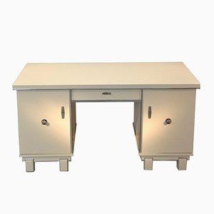 Weißer Art Deco Schreibtisch, 1920er