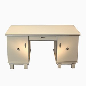 White Art Deco Desk, 1920s